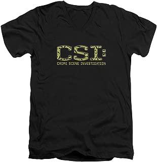 Csi Collage Logo Unisex Adult V-Neck T Shirt for Men and Women