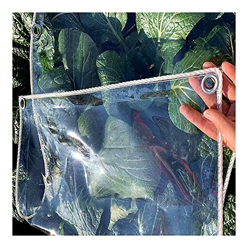 Glass Clear Tarpaulin Tarpaulin UV-Resistant Clear Waterproof Greenhouse/Flower Shed/Window, Dust-Proof Tent With Stainless Grommets (Color : 0.3mm, Size : 1×2m)