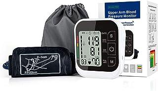 AFANG Monitor Presión Arterial, Portátil Brazo Doméstico Tipo Banda Esfigmomanómetro Pantalla Precisa Pulso Pulsómetro Digital Automático 2 Usuarios 99 * 2,A