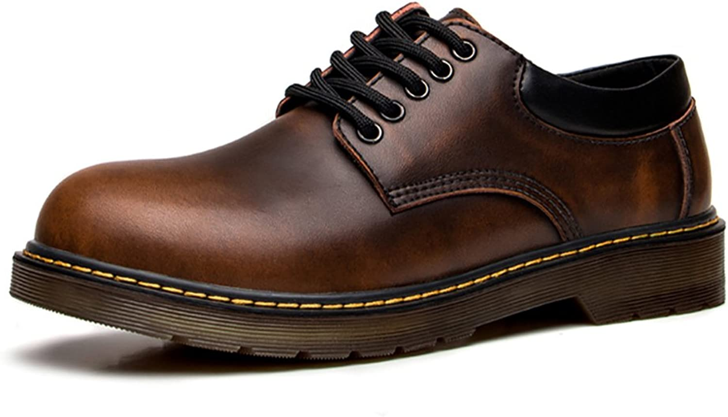 DOLKEARSEN Men Academy Uniform Autumn Classic Genuine Leather shoes Big Head Oxford
