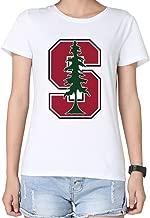 100% Cotton Woman Merry Christmas Standford Cardinal Tree T-shirt
