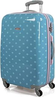 SKPAT - Maleta Infantil de Viaje Trolley 65 cm Mediana Policarbonato Estampado Lunares. Rígida Resistente