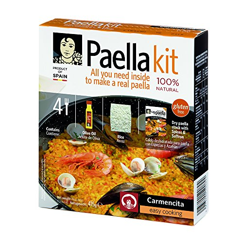 Carmencita Paella-Kit (Nachfüllpackung), Olivenöl, Reis, Gewürzmischung, 415 g