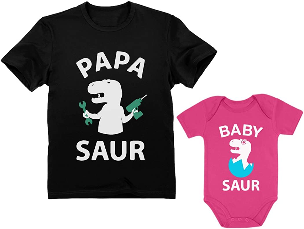 Philadelphia Mall Papa Saur T-Rex Dad Baby Daddy and Set Me Matching trend rank Father