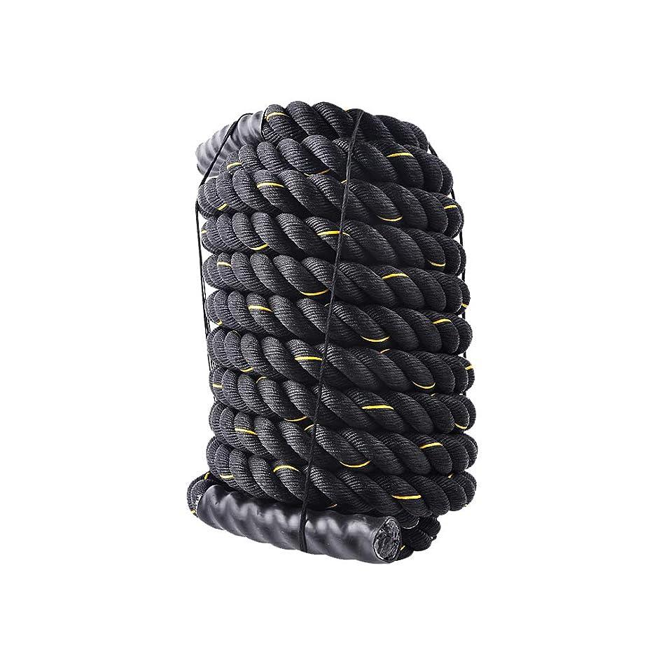 目立つローラー資料ジムロープ トレーニングロープ スイングロープ ブラック 直径50mm/38mm 長さ9m/3m 11kg/7.4kg/2.5kg 極太 全3サイズ [並行輸入品]