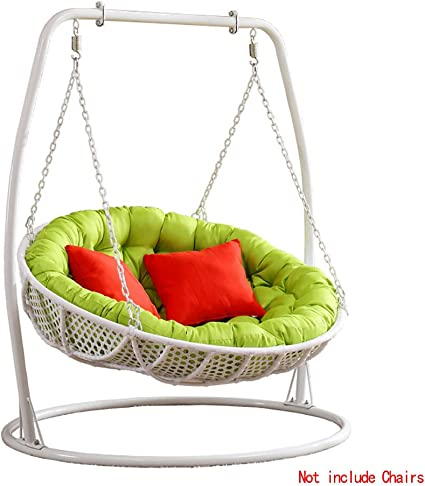 HLZY Outdoor Cushions for Patio Chairs Double Hanging Egg Hammock Chair Cushion Thicken Patio Swing Chair Seat Cushion Pad For Outdoor Garden Egg Nest Hanging Basket Chair Cushion Deck Chair Cushions