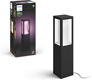 Philips Hue White and Colour Ambiance LED Impress Black Pedestal, Extension Compatible with Alexa