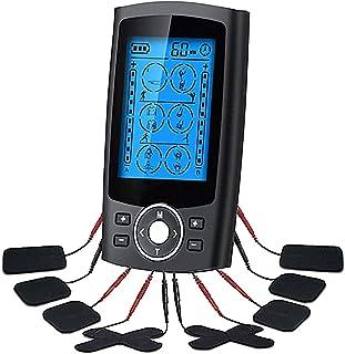 ZTHHS EMS Electroestimulador Digital Portatil, TENS Estimulador Muscular 12 Modos 2 Canales USB Recargable Masajeador Electro para el Cervical Piernas Abdominal Espalda Cuello
