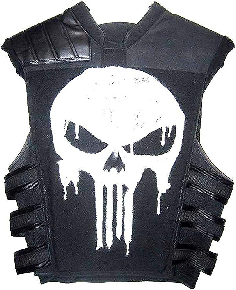Punish Castle War Zone Thomas Jane Tactical Real Leather Vest