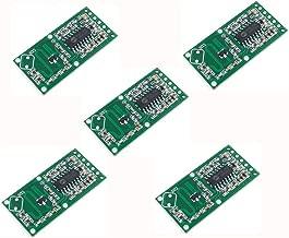 Anmbest 5PCS RCWL-0516 Microwave Radar Sensor Switch Module Body Induction Intelligent Sensor Detection Distance 5-7m Operating Voltage 4-28V Output Current 100mA