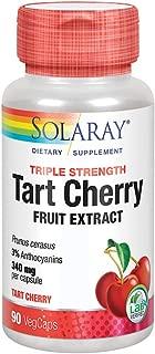 Solaray ® Triple Strength Tart Cherry Fruit Extract | Helps Support Healthy Uric Acid Levels w/Antioxidants & Anthocyanins | Non-GMO & Vegan | 90ct