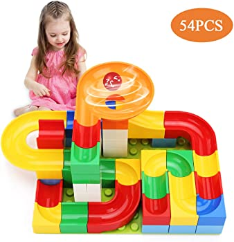 54 Piece TEMI Marble Run Basic Sets for Kids