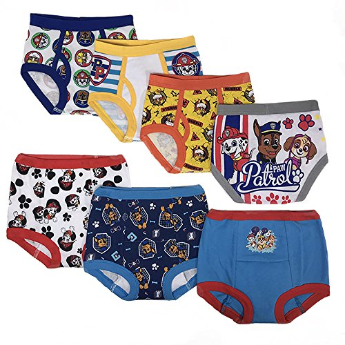 Nickelodeon Toddler Boys' Paw Patrol 3pk Training Pants and 4pk Briefs,PAW multi,2T