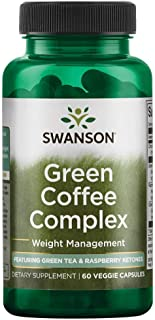 Swanson Green Coffee Complex with Green Tea & Raspberry Ketones 60 Veg Capsules