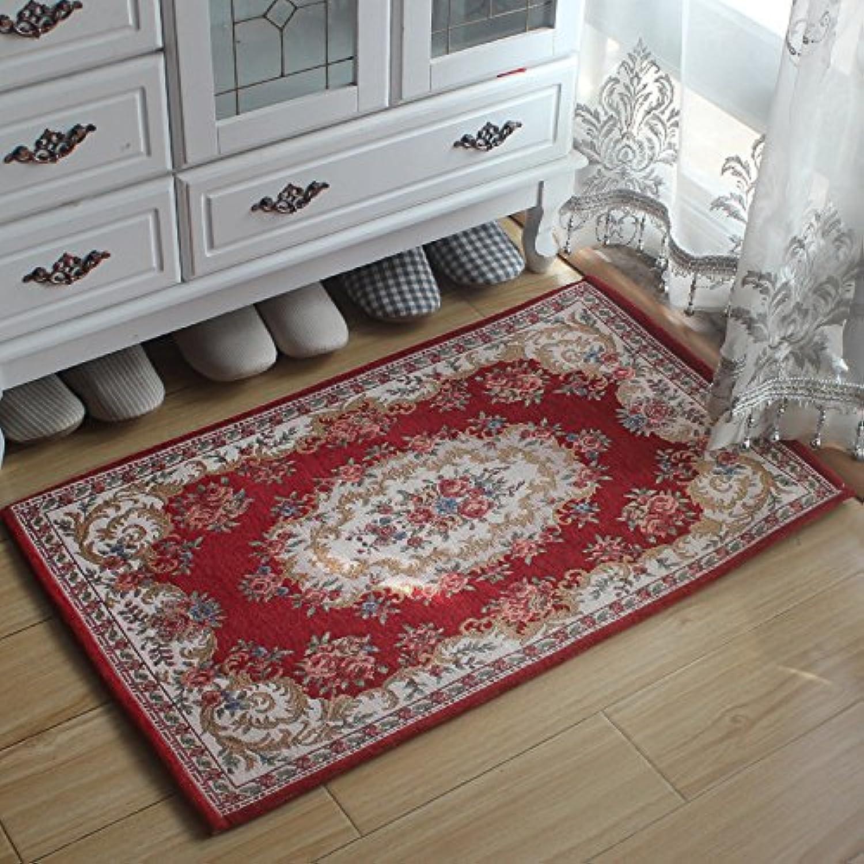 JinYiDian'Shop-Continental Mats Door Mat Feet Bedroom Living Room To Absorb Water ,6090Cm,K