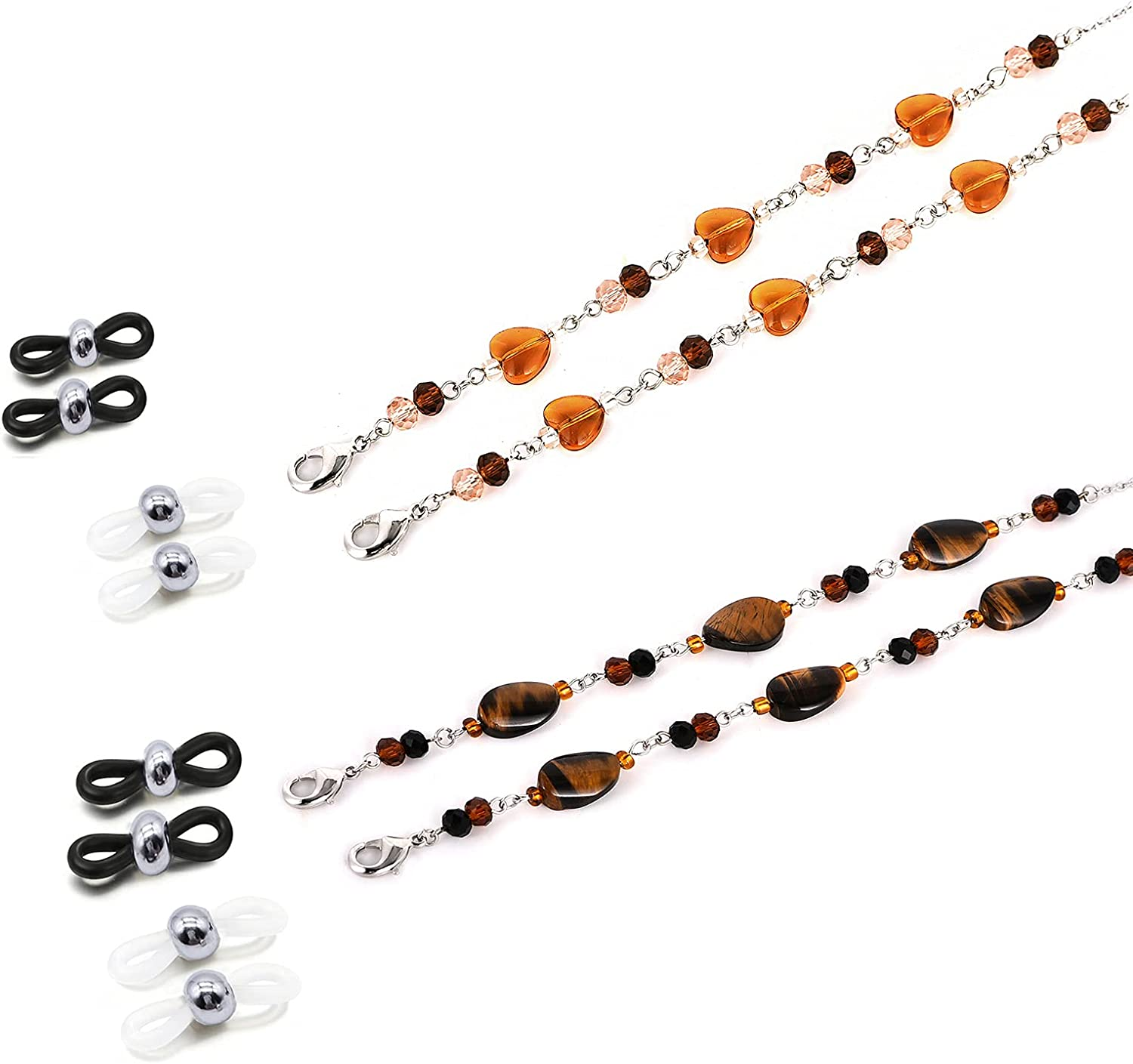 Mask Chain Necklace Handmade Beaded Reading Eyeglass Chains Hold
