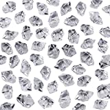 Neworkg 500 Pieces Acrylic Clear Ice Rock Crystals Treasure Gems for Table Scatters, Vase Fillers, Event, Wedding, Birthday Decoration Favor, Arts & Crafts