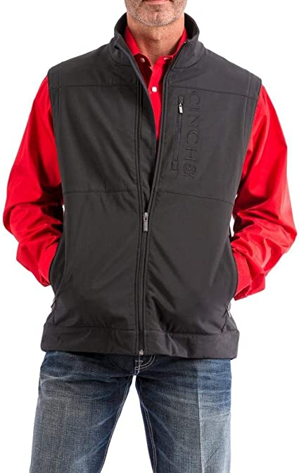 Amazon.com: Cinch Men's Bonded Softshell Vest with Concealed Carry Pockets: Clothing