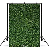 SJOLOON 5X7ft Green Leaves Backdrop Grass Backdrop Natural Green Lawn Party Photography Backdrop Birthday Newborn Baby Lover Wedding Photo Studio Props 10923