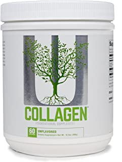 Universal Nutrition Collagen Types I & III Protein Powder with Collagen Peptides, 300 G, 60Count