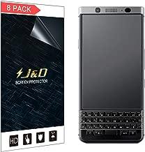 J&D Compatible for 8-Pack BlackBerry KEYone Screen Protector, [Anti-Glare] [Anti-Fingerprint] [Not Full Coverage] Matte Film Shield Screen Protector for BlackBerry KEYone Matte Screen Protector