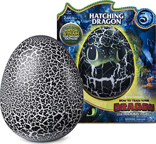 Dreamworks Dragons Hatching Toothless Interactive Baby Dragon with Sounds, for Kids Aged 5 and Up