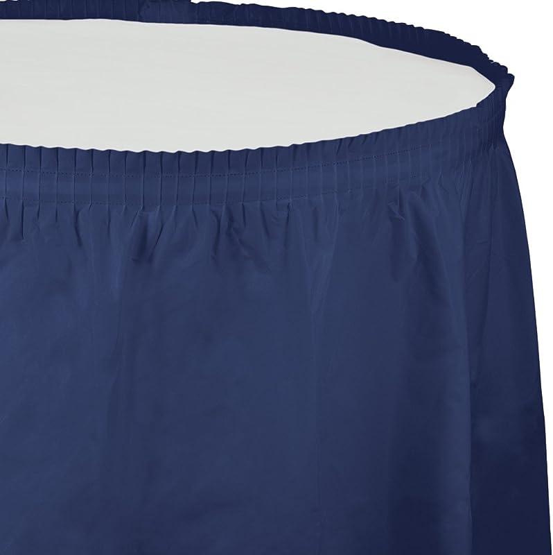 Creative Converting Plastic Table Skirt 14 Feet Navy