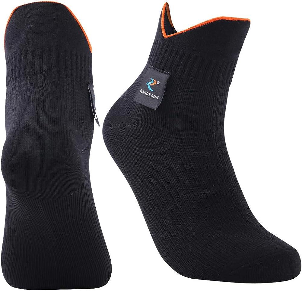 Unisex Cycling//Hunting//Fishing//Running Ankle//Mid Calf Socks RANDY SUN 100/% Waterproof Socks