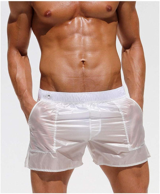 DAHDXD Mnner Strand Shorts Trocknen Schnell Homme Transparente Shorts Atmungsaktiv Elastische Größe Mnnliche Lose Fitness Laufen