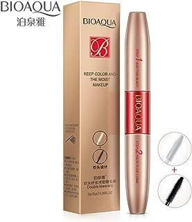 BIOAQUA Lengthening Volumizing Fiber Mascara Dual-head Waterproof Nourishes Eyelashes Brushes Beautiful Makeup