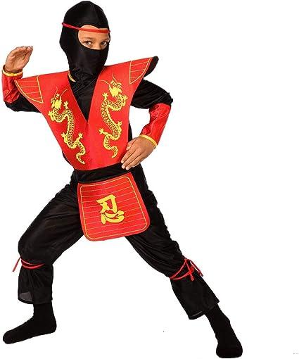 Enfants Garçons Ninja Warlord Costume Arts Martiaux Chinois Fighter Déguisements
