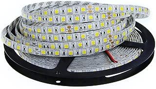 ALITOVE DC 24V 32.8ft 5050 SMD LED Flexible Strip Light Warm White 10M 600 LEDs 60LEDs/M IP65 Waterproof LED Rope Light Strips for Home Garden Commercial Area Lighting