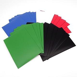 docsmagic.de 5 x 100 Mat Card Sleeves Standard Size 66 x 91 - Black Blue Green Red White - Pochettes - PKM - MTG