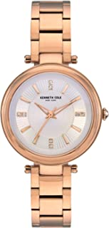 Kenneth Cole Women's Classic Link Crystal KC50961001 Rose-Gold Stainless-Steel Quartz Dress Watch