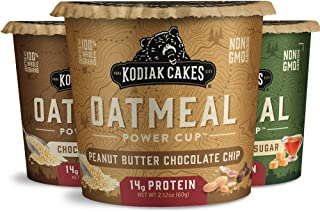 Kodiak Cakes Instant Oatmeal Cup Variety Pack: Peanut Butter Chocolate Chip, Maple & Brown Sugar, & Chocola...