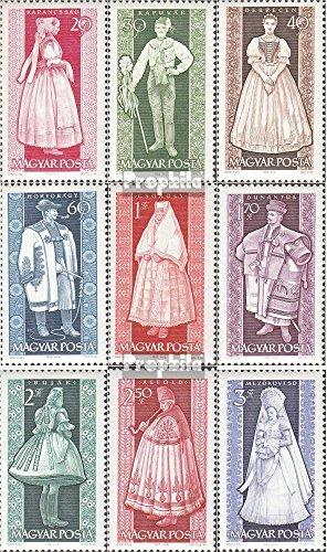 Prophila Collection Ungarn 1954A-1962A (kompl.Ausg.) 1963 Volkstrachten (Briefmarken für Sammler) Uniformen / Trachten