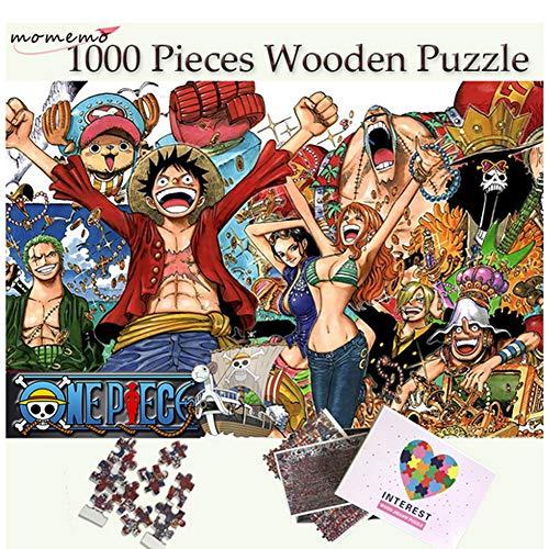 Legpuzzel 1000 stukjes Legpuzzels Strohoed Piraat Groep mensen Puzzel voor volwassenen Houten puzzelspellen Kinderpuzzel