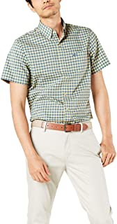 Men's Short-Sleeve Button-Down Comfort Flex Shirt-Plaid