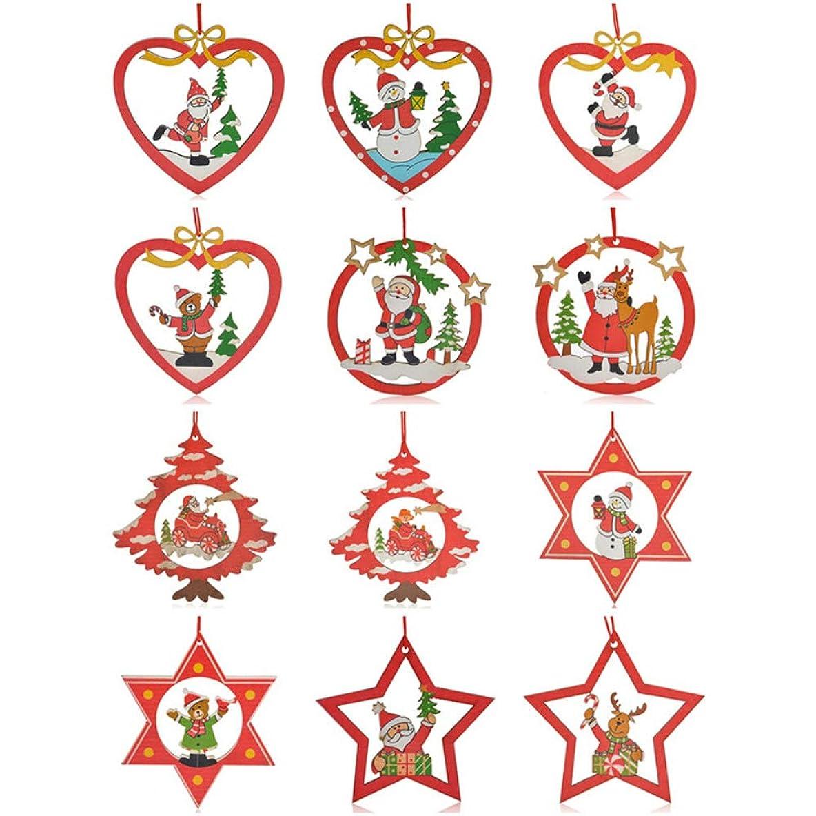 方向バーベキューハントFTC(エフティーシー)クリスマスツリーオーナメント 装飾 飾り ぶら下げ 小物 飾りつけ ギフト パーティー 木製