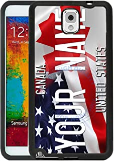 BRGiftShop Customize Your Own Mixed USA and Canada Flag Rubber Phone Case for Samsung Galaxy J3 2018