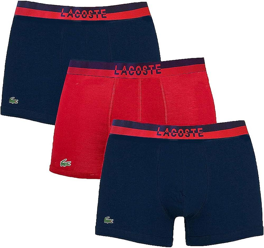 Lacoste, boxer per uomo, in 95% cotone, 5% elastan,pacco da 3 166921