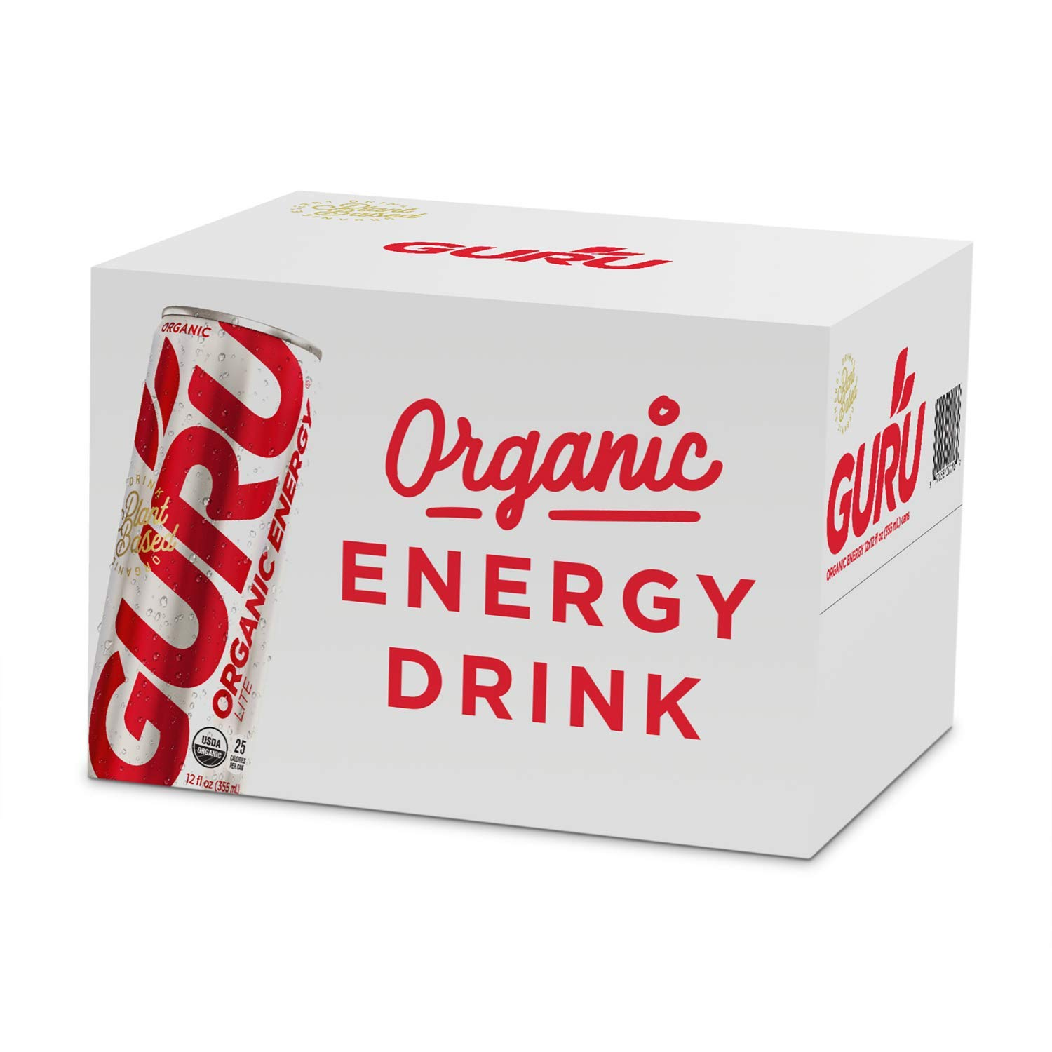 GURU Manufacturer regenerated product Lite Organic Deluxe Low Sugar Energy Ounc Tea 12 with Drink Green