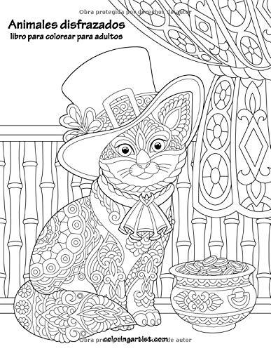 Animales disfrazados libro para colorear para adultos: 1