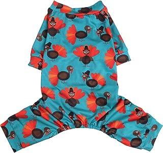 Lamphyface Thanksgiving Dog Pajamas Clothes Pet Costume Apparel Coat Jumpsuit