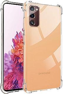 Samsung Galaxy S20 FE Case, Ikwcase Transparent Soft Gel TPU Reinforced Corners Cushion Bumper Shockproof Drop Protection ...