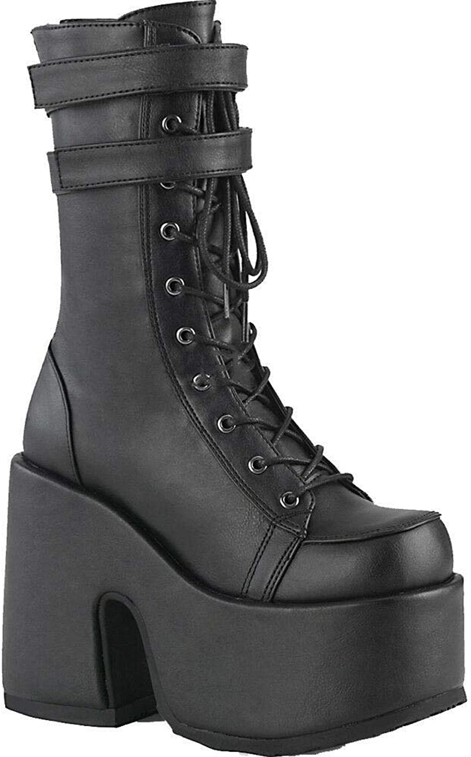 Demonia Women's CAMEL-250 Platform Mid-Calf Boot Black
