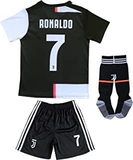 2019/2020 New #7 Cristiano Ronaldo Kids Home Soccer Jersey & Shorts Youth Sizes