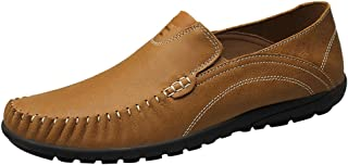 QYY-99888 New Mens Stylish Casual Loafers Slip-on Smart Driving Shoes Khaki 39 EU