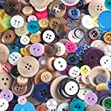 Scrambled Assortment Bag of Buttons for Arts & Crafts, Decoration, Collections, Sewing, and More! Different Colors and Size from 3/8' to 1.5' (100 Pack)