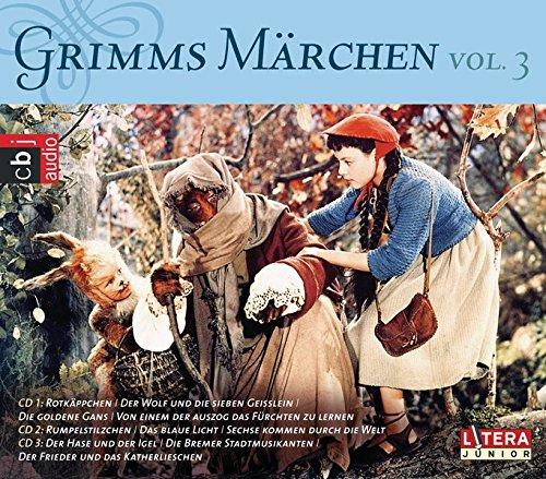 Grimms Märchen Box 3: Rotkäppchen, Der Wolf und die sieben Geißlein, Die goldene Gans, Tischlein deck dich, Die Bremer Stadtmusikanten, Der Hase und der Igel, Rumpelstilzchen u.a.